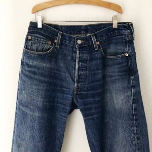 Vintage 33x33 Levis 501 button fly 90s denim jeans